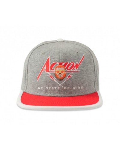 DJINNIS 6 PANEL SNAPBACK CAP ACTION GREY