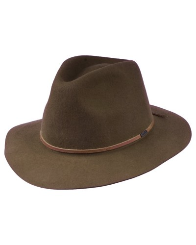 Brixton: Brixton Fedora in Wesley packable felt